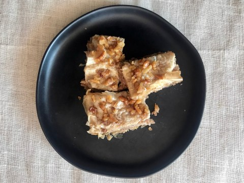 Apple Honey Baklava with Walnuts