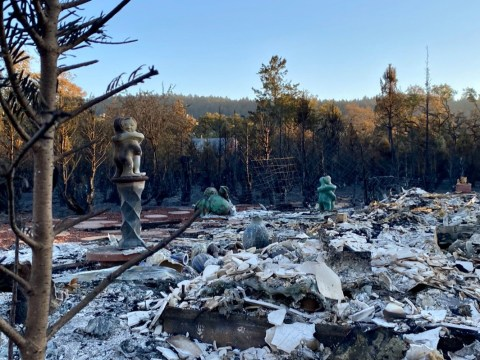 Valley of the Moon Pottery after the fire. (Photo/Maya Reynolds)
