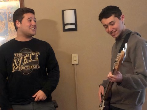Brothers Micah and Jonah Bloom recorded music together at night.