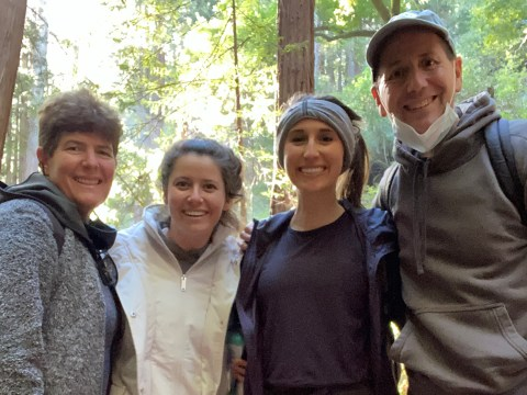 Sarah Levitt (second from right) with her parents and sister.