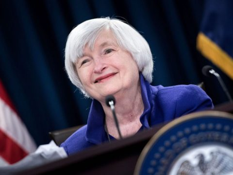 Janet Yellen speaks during a briefing at the Federal Reserve in Washington, D.C., Dec. 13, 2017. (Photo/JTA-Brendan Smialowski-AFP via Getty Images)