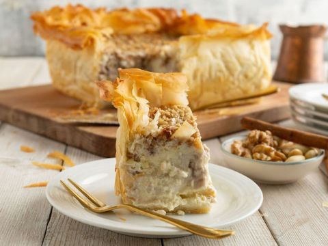 One of Kriel's desserts is a baklava cheesecake. (Photo/JTA-Courtesy Kriel)