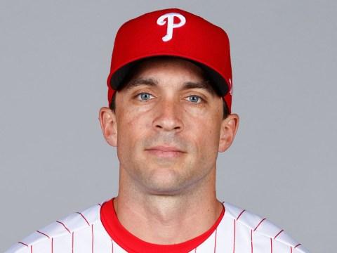 Sam Fuld poses in a Philadelphia Phillies uniform in 2019. (Photo/JTA-Mike Carlson-MLB via Getty Images)