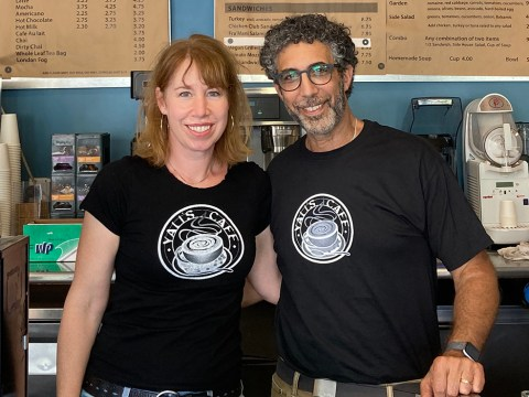 Ayal and Leah Amzel, owners of Yali's Café in Berkeley. The couple received an interest-free loan from Hebrew Free Loan that allowed them to continue their business during the pandemic. (Photo/Courtesy Hebrew Free Loan)