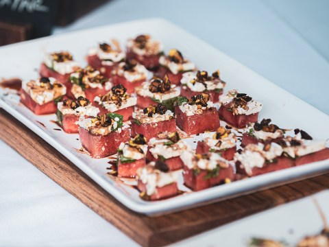 Watermelon Feta Bites from Olive catering.