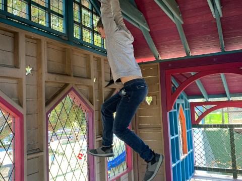 Yonaton Naveh playing at Magical Bridge in Palo Alto. (Photo/Yael Naveh)
