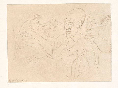 """""""Sketch to the Artists' Enchantment"""" Rudolph Grossman is one of two works in the FAMSF collection flagged for investigation by J. (Photo/Courtesy FAMSF)"""