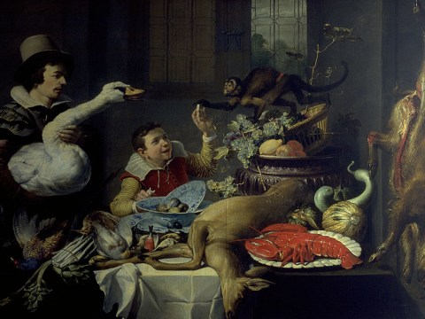 """""""The Monkey and the Gander"""" by Frans Snyders, ca. 1613 (Photo/Courtesy FAMSF)"""