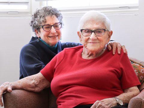 Jane Galvan (left) and her mother, Joan Haskin.