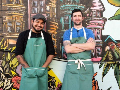 Red Window chef Adam Rosenblum (right) and partner Elmer Mejicanos. (Photo/Mark Fiorito Photography)