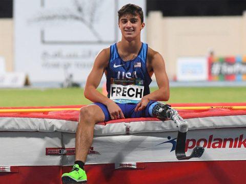 Ezra Frech at the World Para Athletics Championships in Dubai, Nov. 11, 2019. (Photo/JTA-Moto Yoshimura-Getty Images)