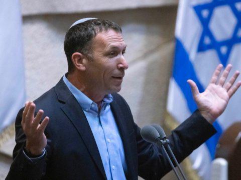 Israeli Religious Affairs Minister Matan Kahana speaks in the Knesset, June 28, 2021. (PhotoJTA-Olivier Fitoussi-Flash90)