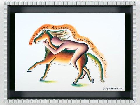 "Judy Chicago's ""Galloping Mare"" (2018). (Photo/Donald Woodman)"