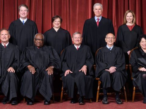 The Roberts Supreme Court in 2021.
