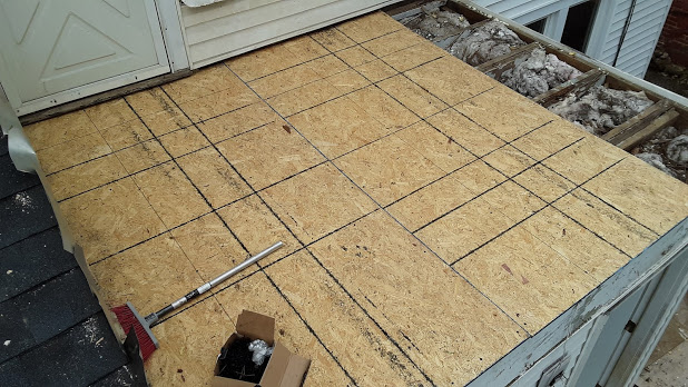 Exterior Remodel: Roofing OSB Sheathing being Installed in Manchester MD 21088