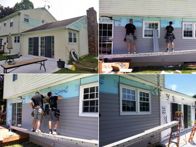 Siding Contractor JWE installing vinyl siding dutchlap in Carroll County's Finksburg MD 21048