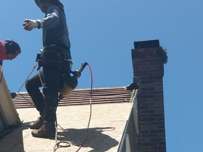 Chimney Flashing Installation York County PA Roofing by JWE in New Freedom PA 17349