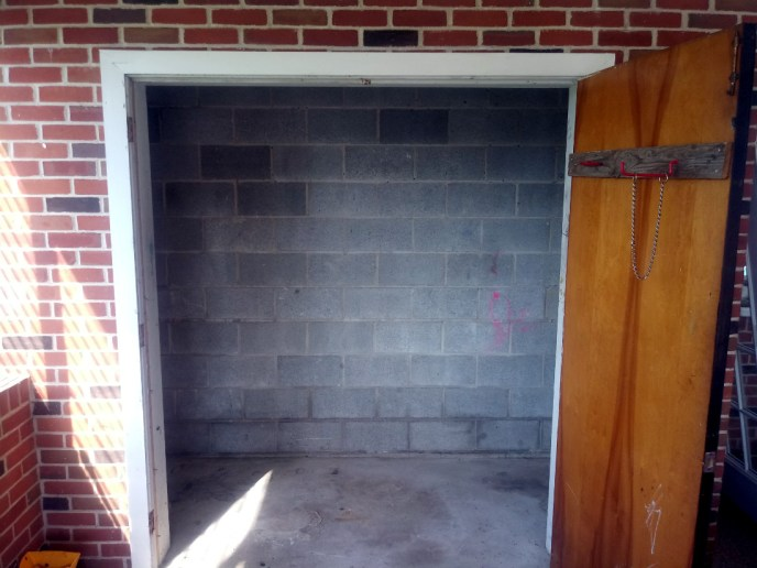 Before: the old unfinished utility closet