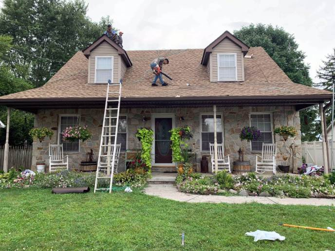 Finished Roof Damage Repair Service by JWE Remodeling and Roofing in Hanover PA 17331