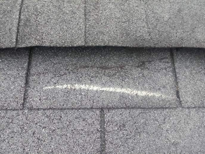 Roof repair during free roof inspection for wind damage in Hanover PA 17331