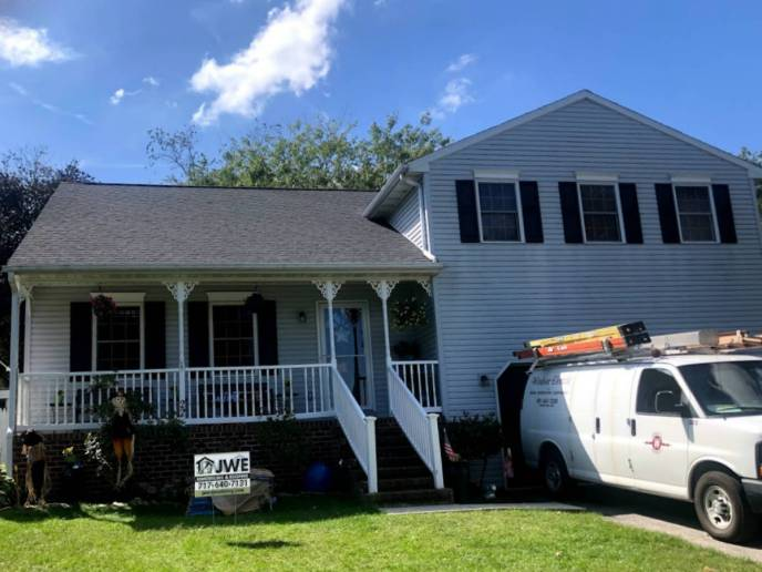 Finished roof replacement in Hanover PA 17331 by JWE Remodeling and Roofing contractors