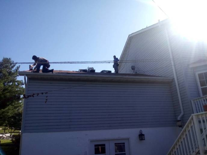 Roof replacement in Hanover PA being executed by JWE Remodeling and Roofing Contractor certified Google Guaranteed roofer