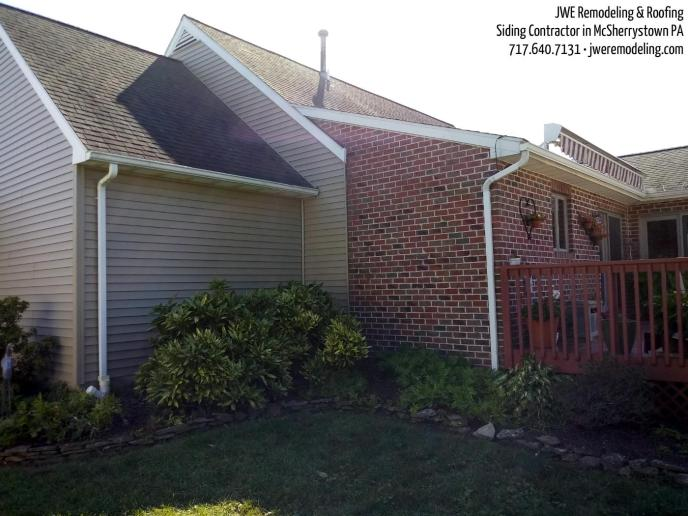 Siding installation in Adams County Pennsylvania McSherrystown by JWE Remodeling and Roofing, vinyl siding, soffit, gutters, fascia and more