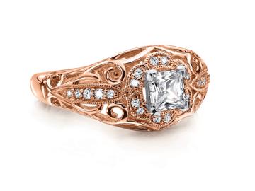 custom rose gold engagement rings la jolla san diego