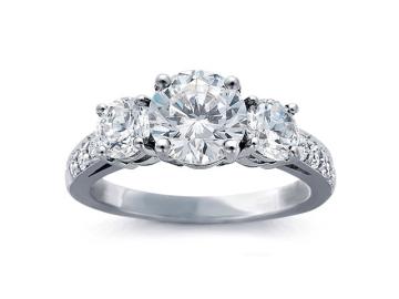 custom three stone engagement ring in san diego