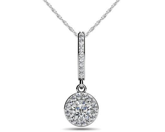 custom vintage teardrop diamond pendant necklace
