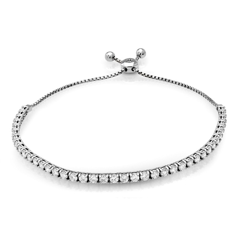 Adjustable Diamond Tennis Bracelet