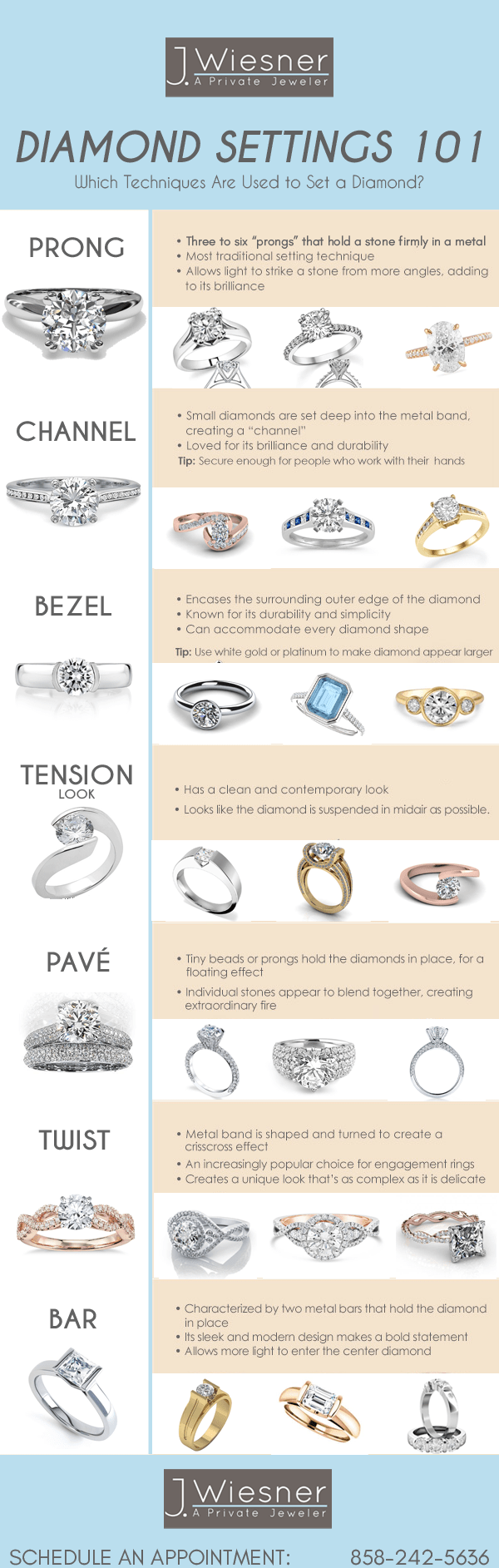 Engagement Ring Settings 101 Infographic