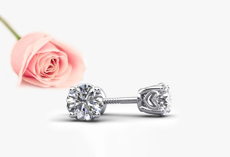sweetheart stud earrings