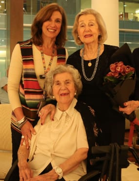 Ruth Katz, Audrey Goldberg and June Lotzof
