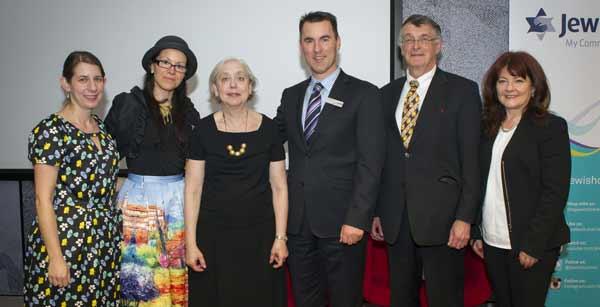 From left: Dr Esther Jilovsky, Magali Kaplan, Dr Madeleine Tress, Bill Appleby, Dr George Halasz and Dr Anita Frayman