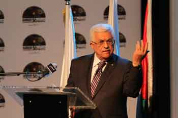 Palestinian Authority President Mahmoud Abbas gestures as he speaks during a conference in Ramallah on June 19, 2014. Credit: Issam Rimawi/Flash90.