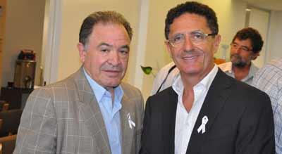 NSW JNF president Alex Abulafia and JewishCare president Alan Vidor    Photo: Warren Hurst
