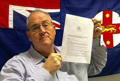 Walt Secord holds the Bill