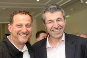 Regavi's Ari Briggs with JNF CEO Dan Springer all pix: Henry Benjamin
