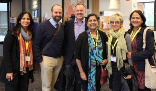 l-r:  Kiran Bansal, Mark Church, Dr Ron Ritchhart, Ravi Grewal, Corinne Kaplan, Saroj Singh