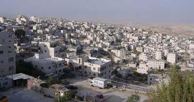 "The eastern Jerusalem neighborhood of Issawiya. Media references to ""East Jerusalem"" with an uppercase ""E"" imply that the area is a different municipality than the undivided Israeli capital of Jerusalem. Credit: Faigl.ladislav via Wikimedia Commons."