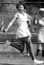 Eva Duldig in her tennis days. She played Billie Jean King and Margaret Court