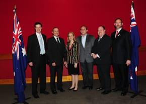 Jonathan O'Dea, Vic Alhadeff, Gabrielle Upton, Yaron Finkelstein, Yair Miller, Rabbi Jeremy Lawrence