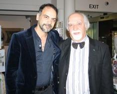 Dr Kooshyar Karimi and Holocaust Survivor George Sternfeld