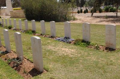 ANZAC graves in Be'er Sheva. One bears a Magon David  photo: Henry Benjamin