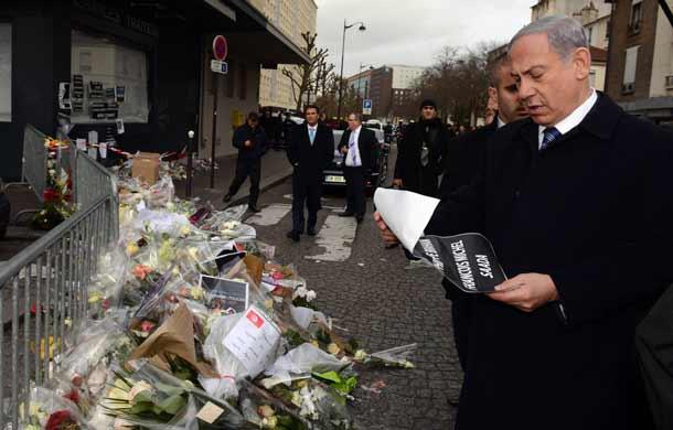 Prime Minister Benjamin Netanyahu at the kosher supermarket  Pic:GPO