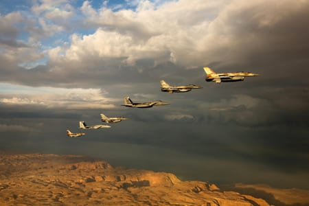 Israel Air Force (IAF) planes in a 2015 exercise. Credit: The Israel Defense Forces (IDF) via Flickr.