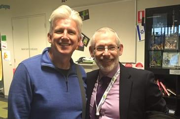 Moriah College Principal John Hamey with Rabbi Scot Berman