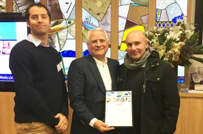 Daniel Kresner – General Manager Macabbi NSW , Daniel Goulburn – Chairman Wolper Jewish Hospital Health Foundation, Danny Hochberg – President Maccabi NSW
