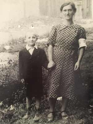 "My great-grandmother, Hannah Skop z""l (1900-1942) pictured here with one of her sons, Isaac Skop z""l (1933-1942). They were taken together by the Nazis in 1942. My grandmother never saw them again. May their memory be a blessing."